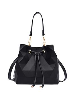 Easy Matching Solid Bucket Bag Shoulder Bag