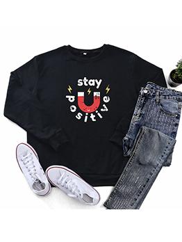 Easy Matching Fashion Casual Long Sleeve Sweatshirt