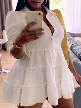 Fashion Simple Plus Size Short Sleeve Dresses