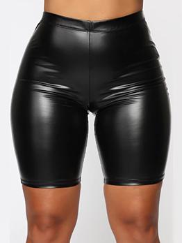 New Solid Skinny Short Pants Women