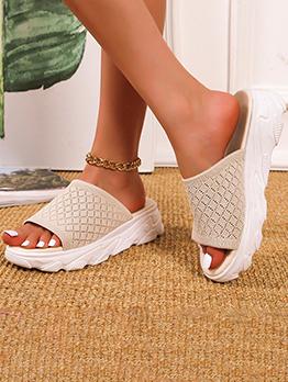 Leisure Rubber Sole Summer Slide Slippers