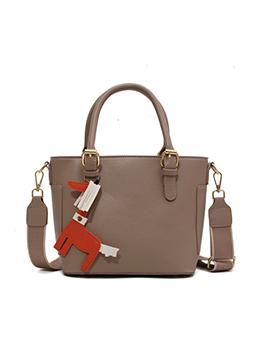 Fashion Pure Color Pendant Versatile Shoulder Bag