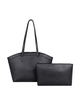 Street Solid Hasp Tote Bag Sets For Women
