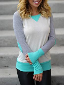 New Contrast Color Crew Neck Sweatshirt