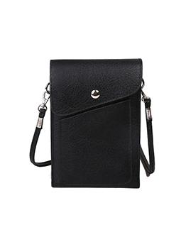 Women Outdoor Solid Hasp Phone Shoulder Bag