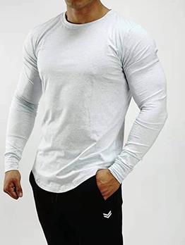Autumn Fitness Sport Basic Long Sleeve Tees
