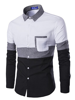 New Contrast Color Button Up Shirts