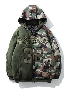 Fashion Camouflage Hooded Cotton Jacket