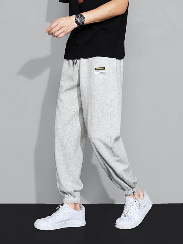 Autumn Korean Style Casual Mid Waist Drawstring Pants