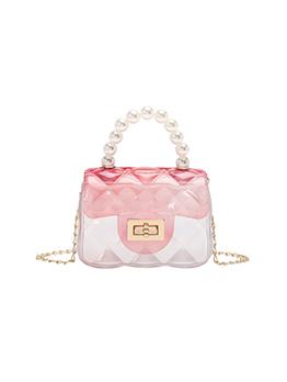 Faux Pearl Chain Transparent Casual Shoulder Bag