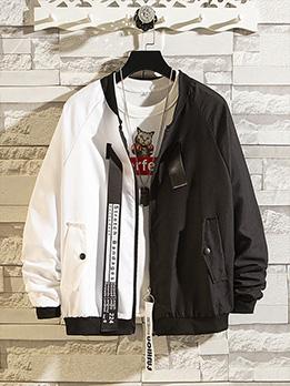 Workout Winter Contrast Color Men Jacket Coat