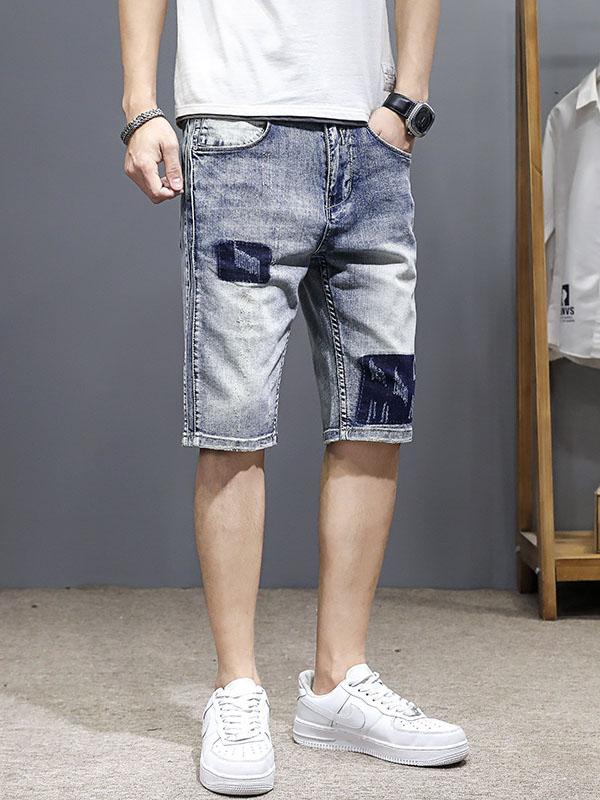 Summer Outdoor Patchwork Half Length Pant For Men