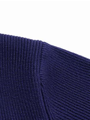 Work Cotton Solid Black Pocket Cardigan For Men