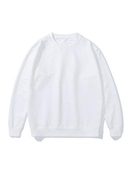 Solid Color Plain Versatile Long Sleeve Sweatshirt