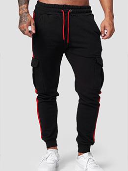 Casual Versatile Pocket Drawstring Long Pant For Men