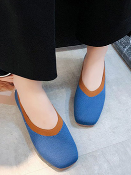 New Contrast Color Flats For Women