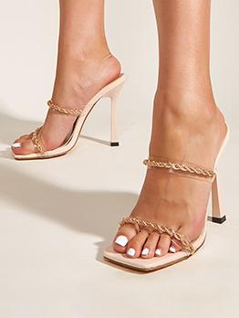 Western Style Stylish Casual Heel Slipper For Women