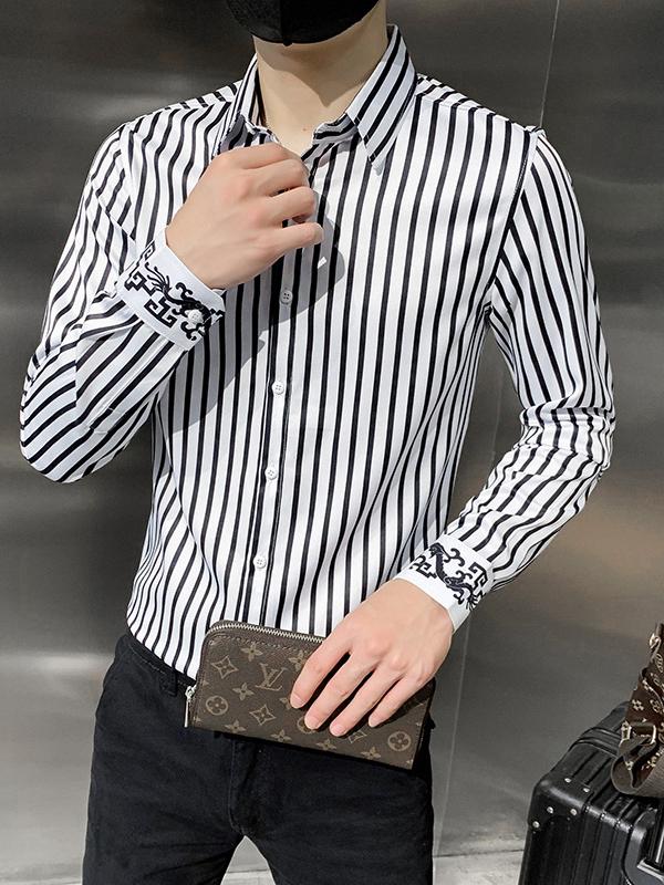 Professional Work Fashion Striped Long Sleeve Shirts