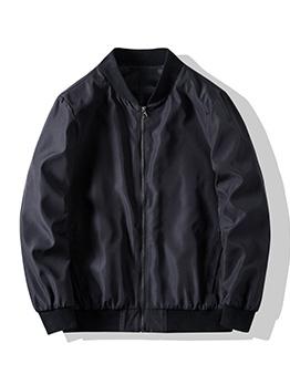 Autumn Casual Black Plus Size Jacket For Men