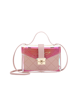 Dating Rhombus Lattice Twist Lock Shoulder Bag