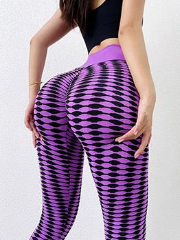 New Contrast Color Butt Lift Pants