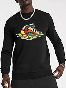 Street Long Sleeve Loose Pullover Sweatshirt