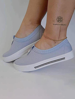 New Contrast Color Slip On Sneakers