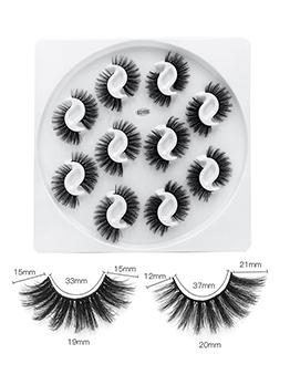 Best Selling Solid 10 Pairs Pack False Eyelashes