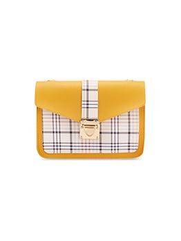 New Arrival Plaid Contrast Color Shoulder Bag For Women