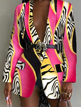 Fashionable Leopard Printed Women Blazers