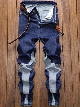 Fashion Blue Skinny Denim Jeans For Men