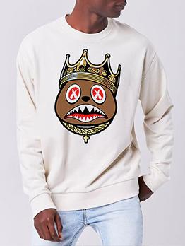 Printed Casual Fashion Fall Men Plus Size Sweatshirt