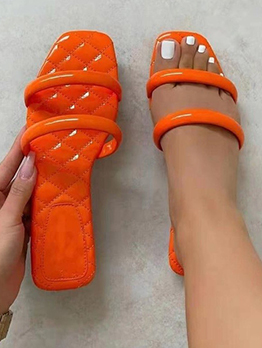 New Solid Square Toe Womens Slippers