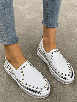 New Rivet Wedge Slip On Sneakers