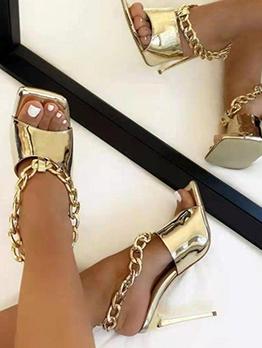 New Chain High Heels For Women