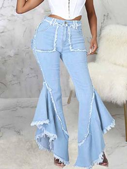 Fashion Versatile Flare Denim Jeans For Women