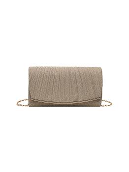 Party Elegant Solid Chain Shoulder Bag For Ladies