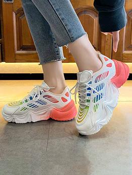 Contrast Color Casual Women Sneaker Versatile