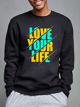 Casual Fashion Fall Plus Size Sweatshirt for Men