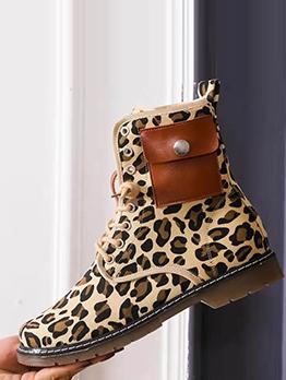 Patchwork Pocket Fashion Autumn Ankle Boots