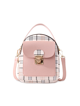 Korean Fashion Preppy Style Contrast Color Backpack
