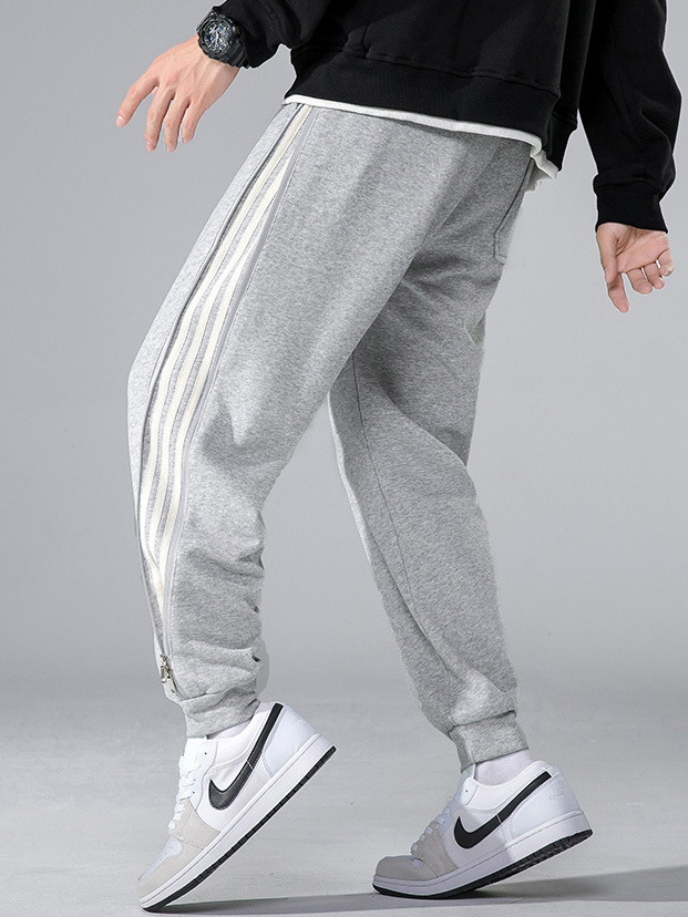 Outdoor Striped Drawstring Track Pants