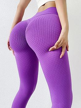Solid Butt Lift Sport Active Yoga Long Pants