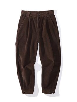 Popular Solid Pocket Mid Waist Jeans
