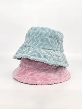 Winter Casual Solid Flano Unisex Bucket Hat