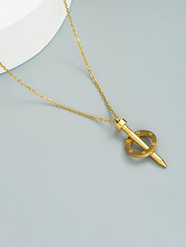 Street Solid Titanium Steel Pendant Necklace For Women