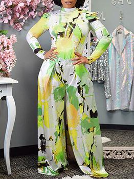 Autumn Print Fashion Long Sleeve Two Pieces Clothing Set