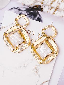 Fashion All-Match Rhombus Simple Earrings