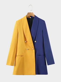 British Style Contrast Color Ladies Blazer