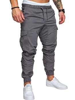 Plus Size Casual Solid Fashion Long Pants Men